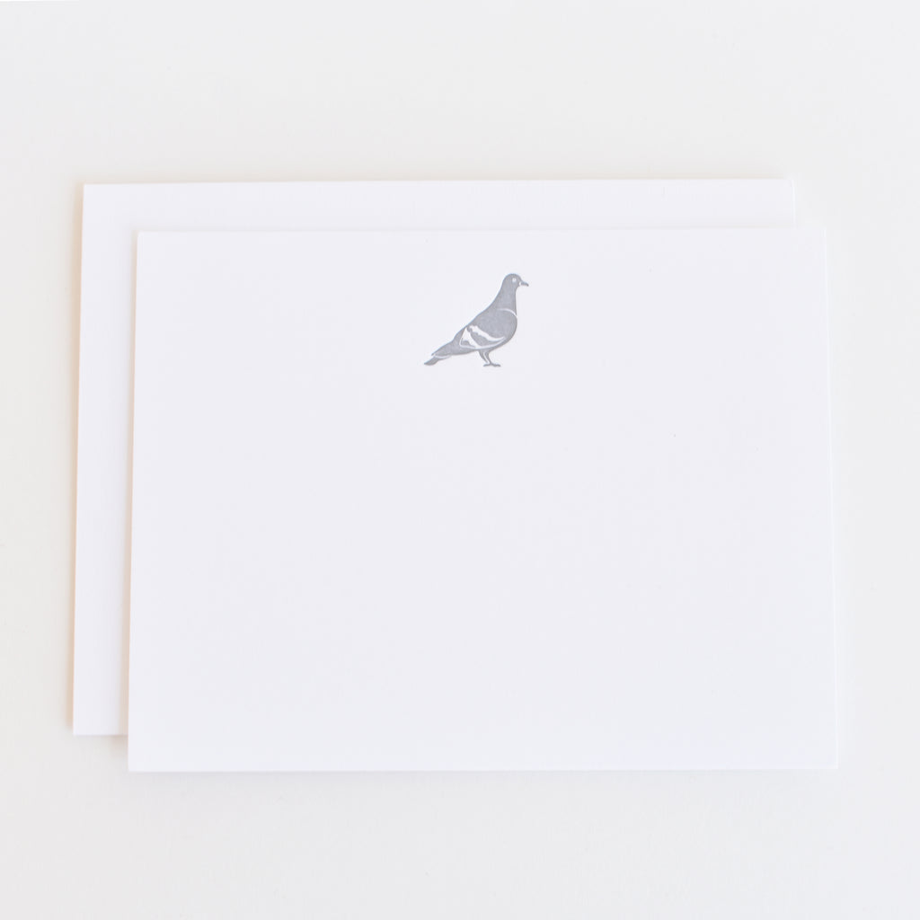 Pigeon - Letterpress Stationery Set of 12