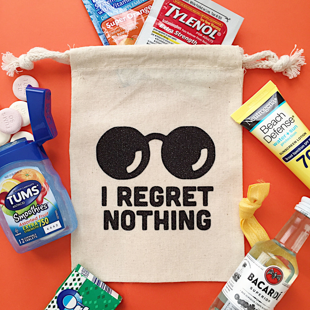 I Regret Nothing Favor Bags | Pack of 10
