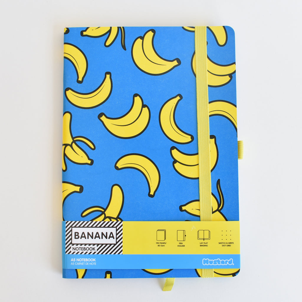 Cyan Banana Notebook
