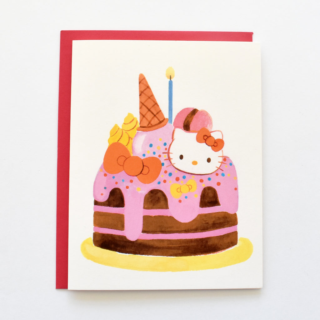 Hello Kitty Cake Card