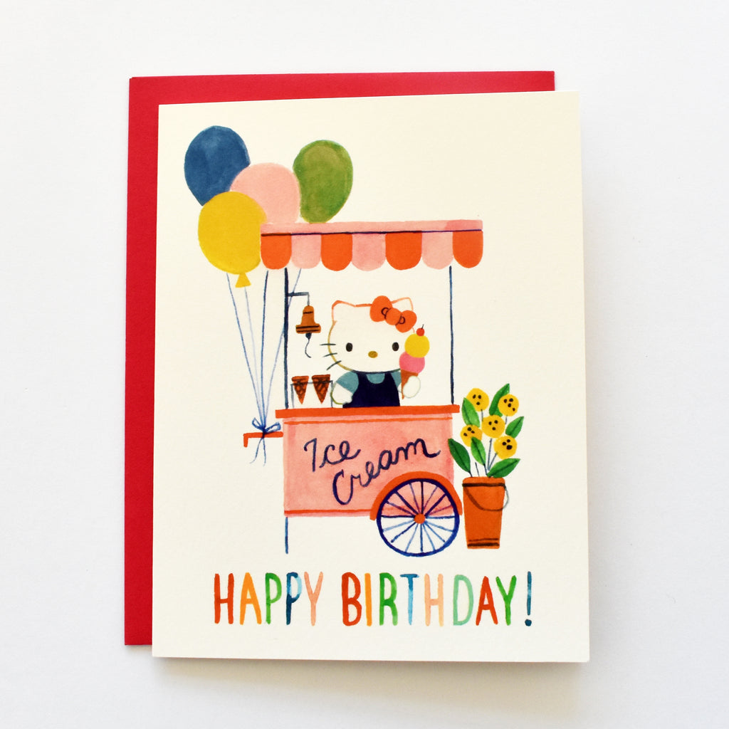 Hello Kitty Ice Cream Card