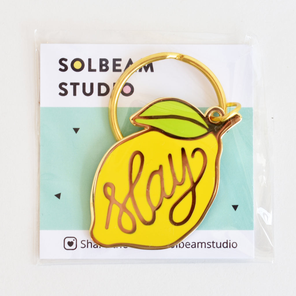 Yellow Lemon Slay Keyring