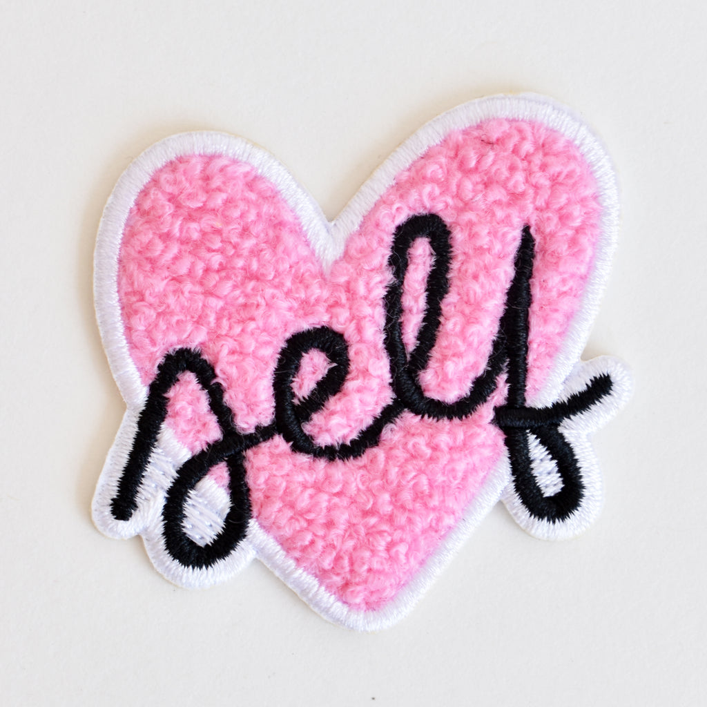 Self-love heart iron-on patch