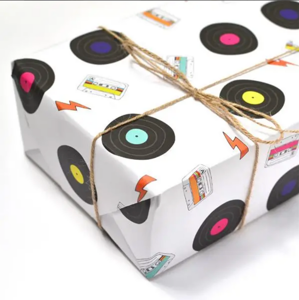 Records and Tapes Gift Wrap