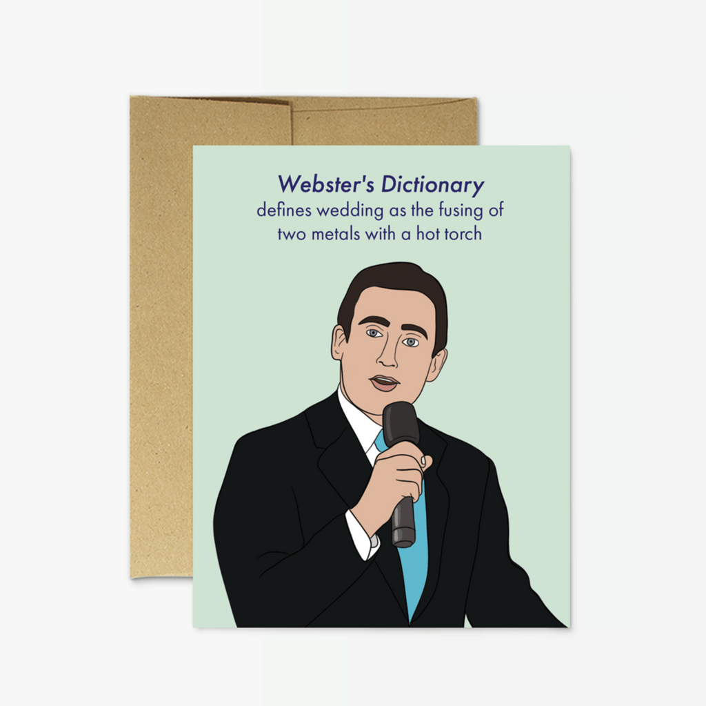Michael Scott Wedding Card