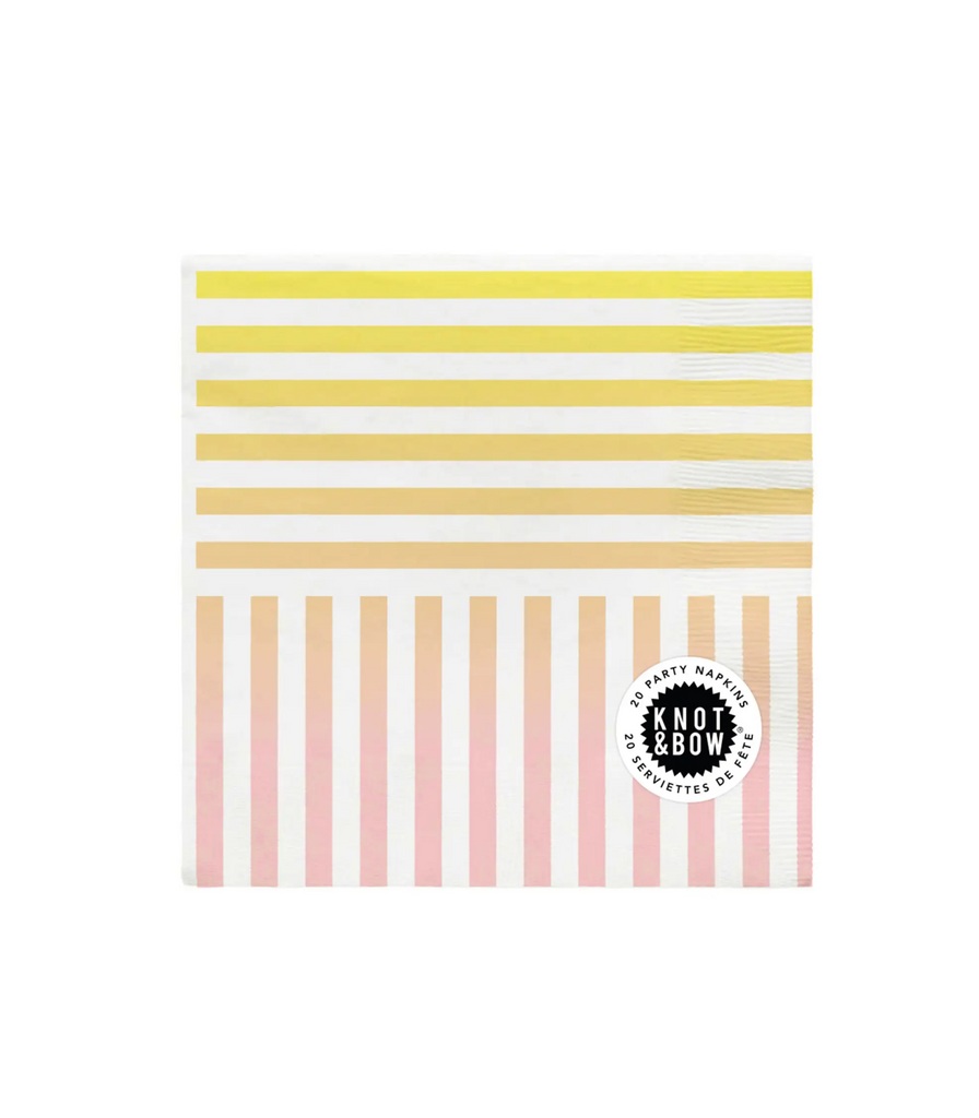Party Napkins  Gradient Stripe