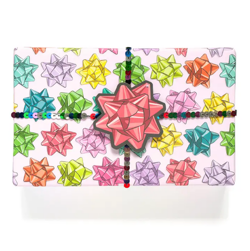 Multi-Color Bow gift wrap sheet