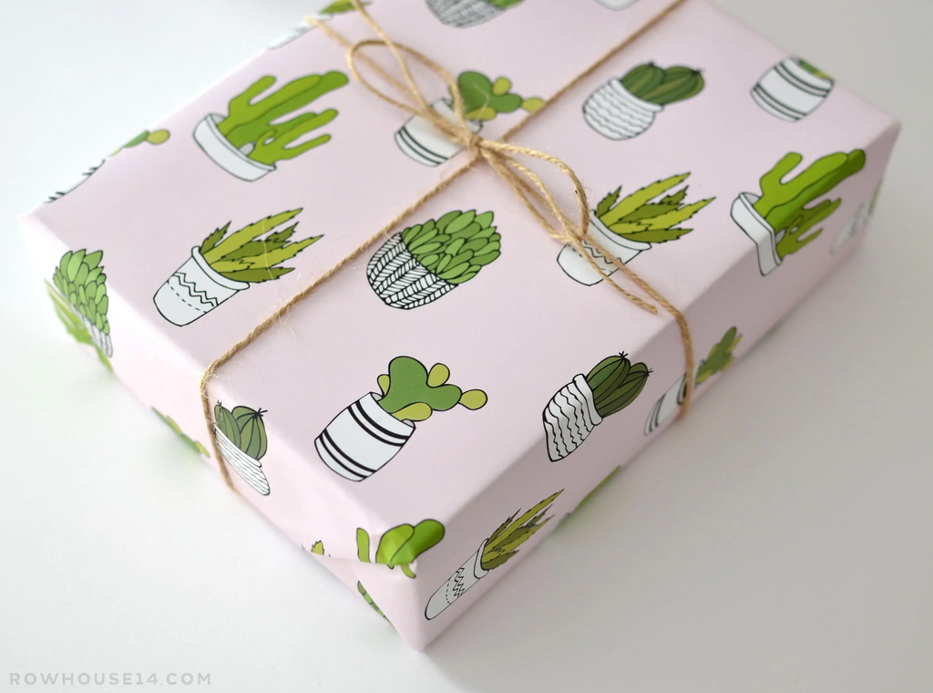 Succulent Gift Wrap