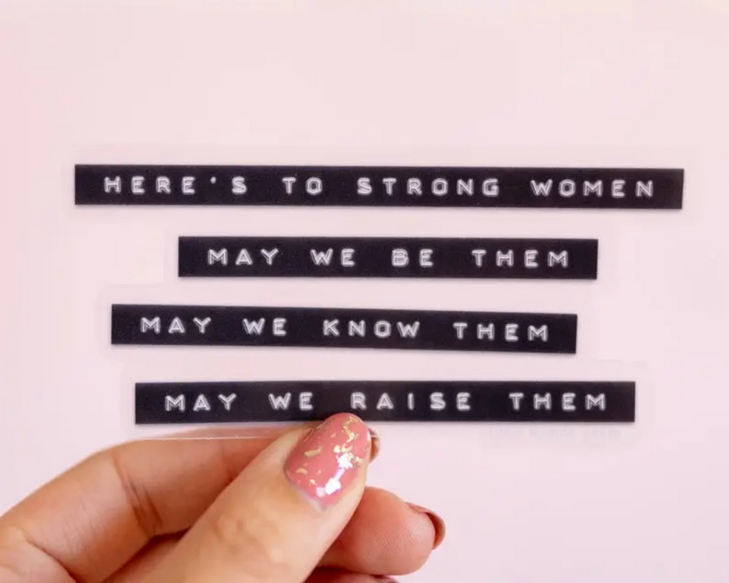 Strong Women Vinyl Sticker