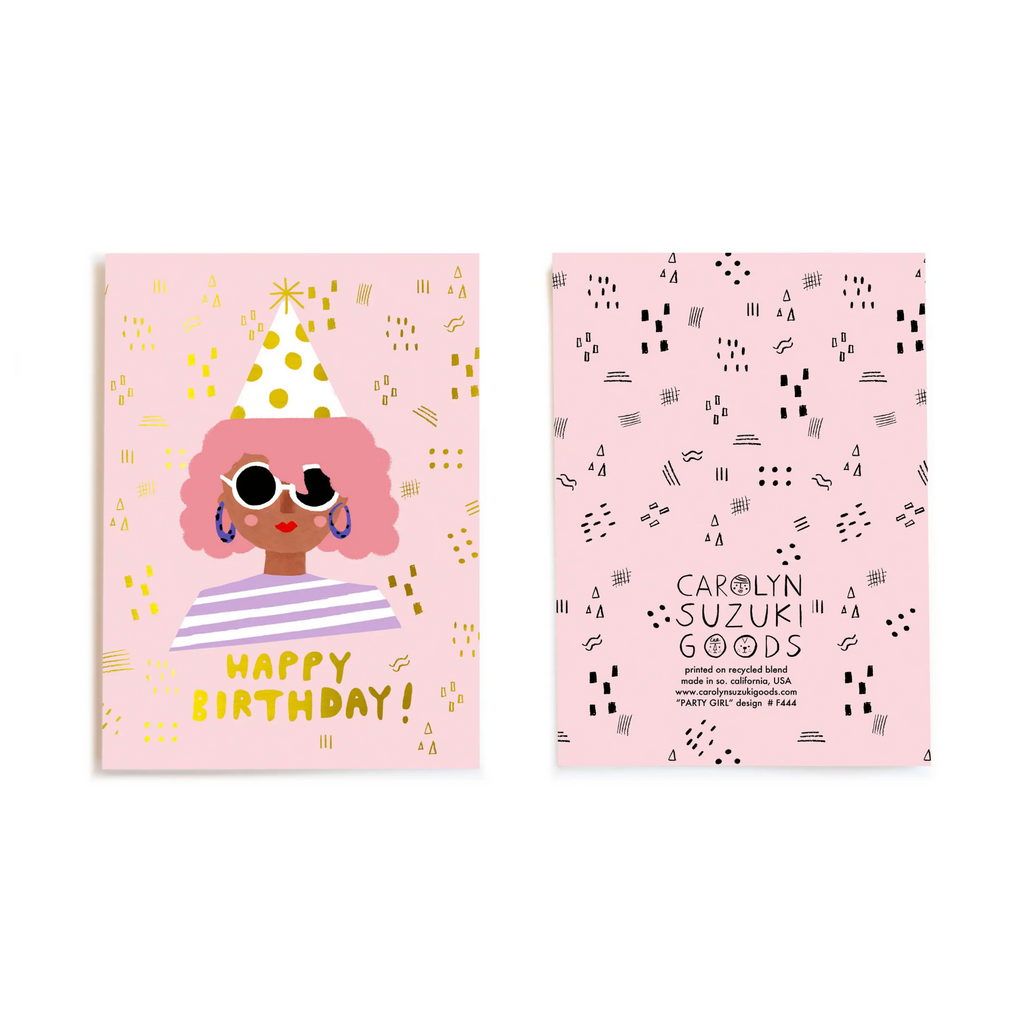 Party Girl - Greeting Card