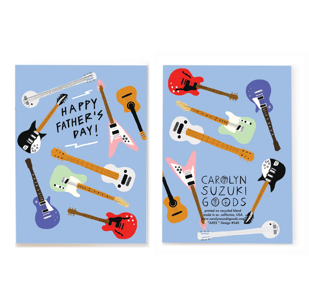 Axes - Greeting Card