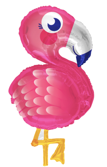 "28"" Pink Flamingo Foil Balloon"