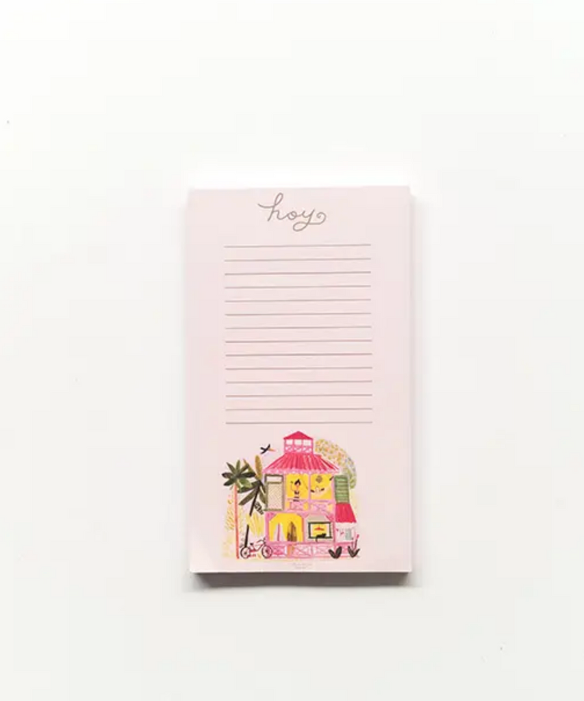 Pink Caribbean House Notepad