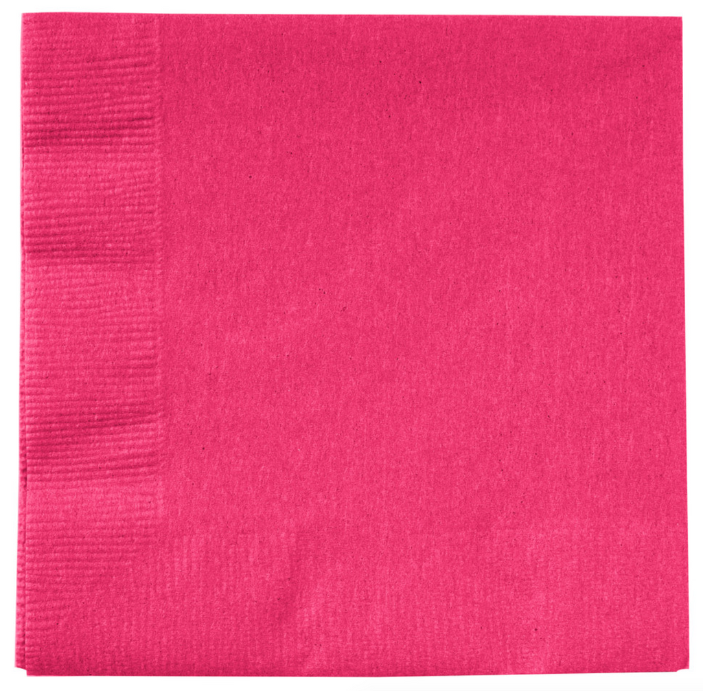 Hot Magenta Small Party Napkins