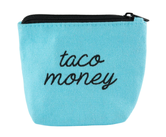 Embroidered Taco Money Pouch