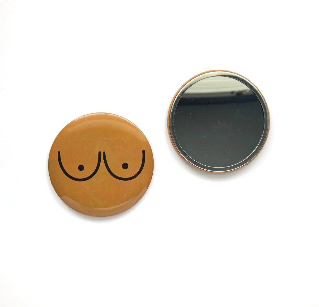 Boob Pocket Mirror - Brown