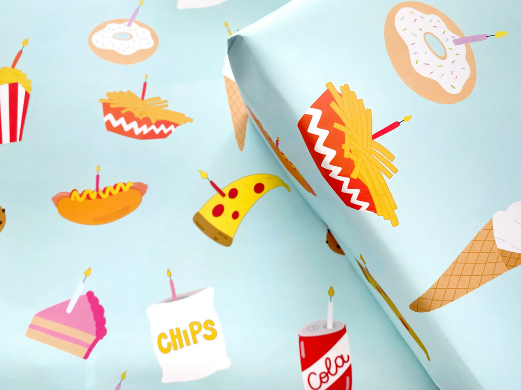 Junk Food Wrapping Paper