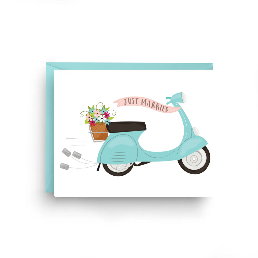 Wedding Vespa - Wedding Card