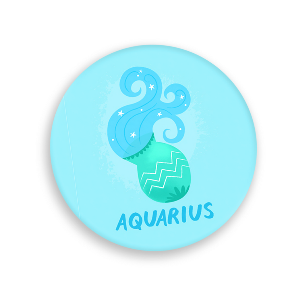 Zodiac Button - Aquarius