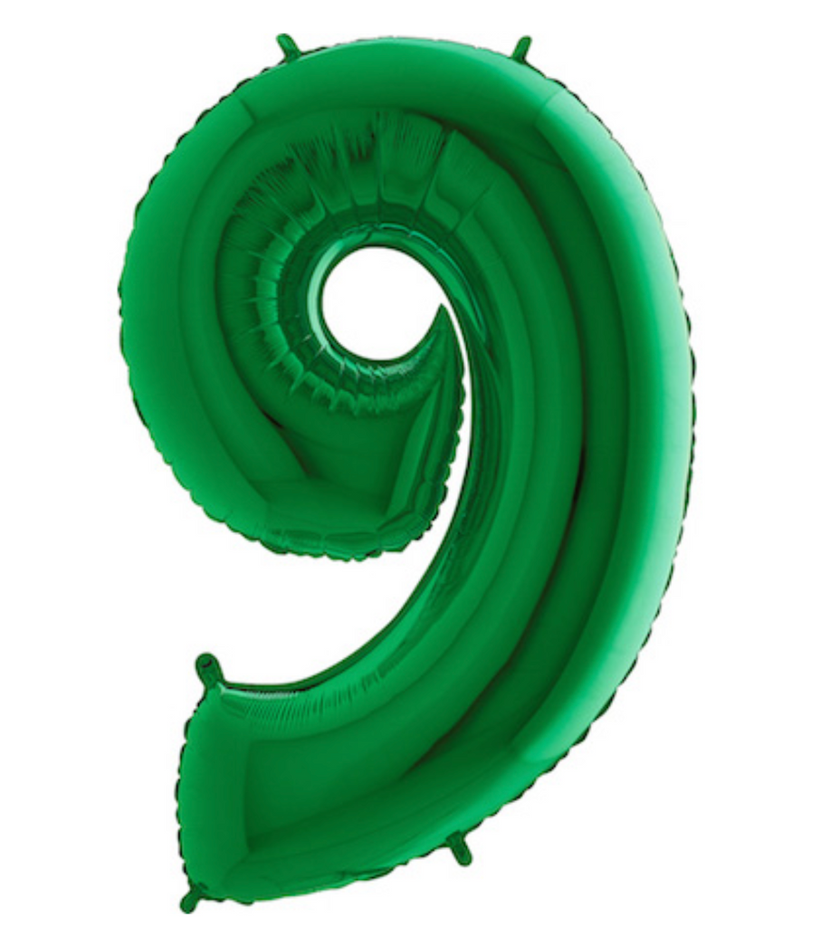 "40"" Number ""9"" Green Balloon"