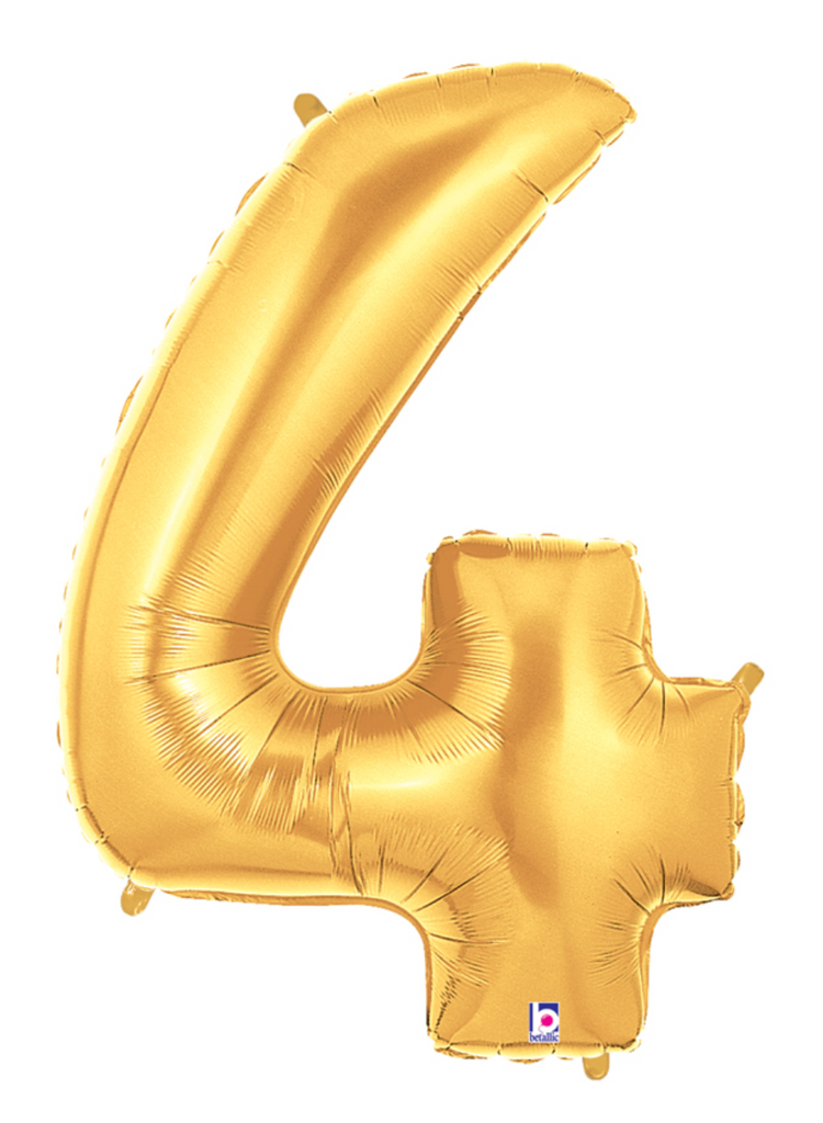 "40"" Gold Number ""4"" Balloon"