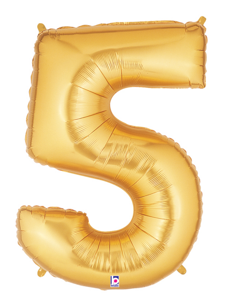"40"" Gold Number ""5"" Balloon"