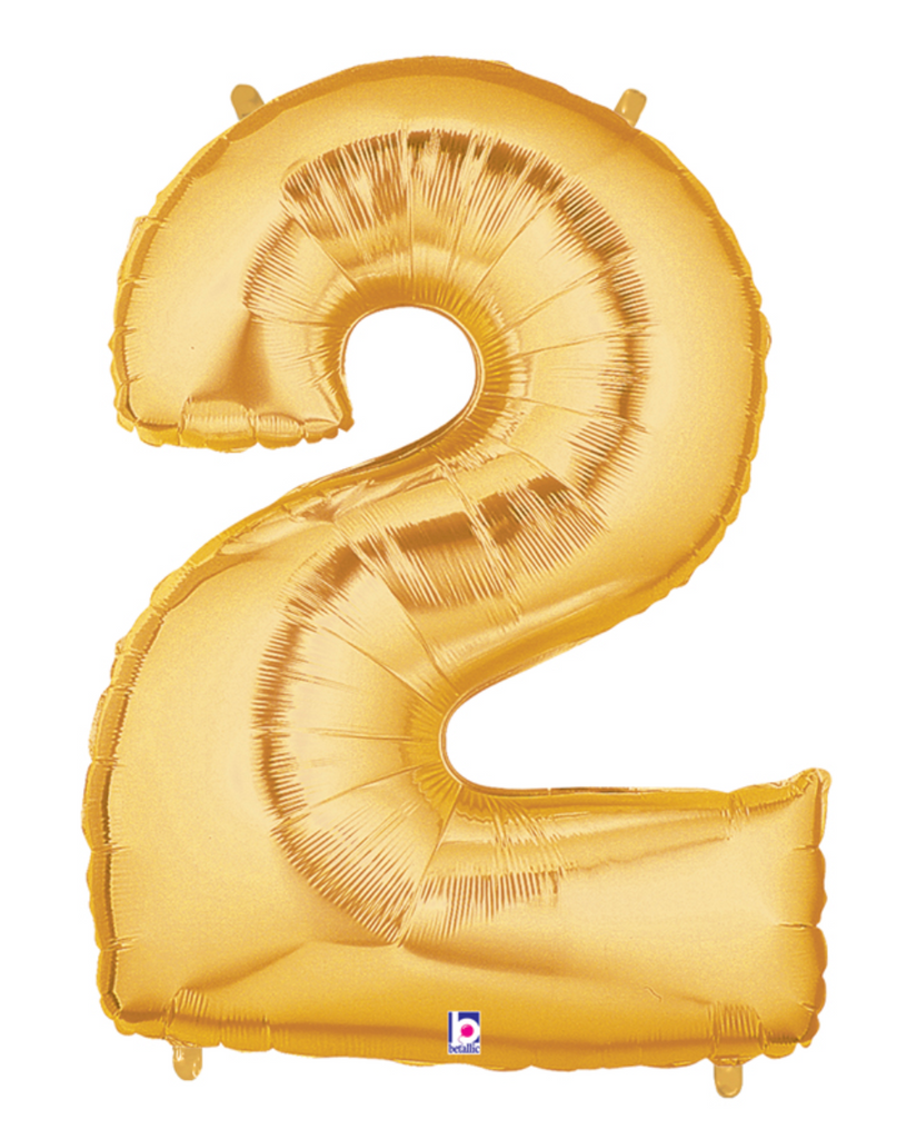"40"" Gold Number ""2"" Balloon"