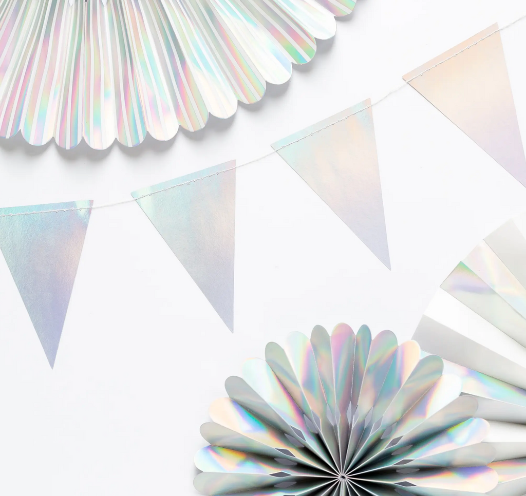 Basic Holographic Pennant Banner