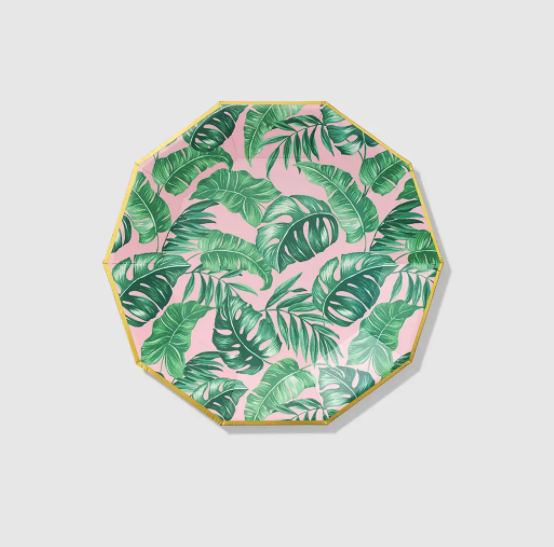 Palm Leaves Large Paper Party Plates (10 Count)