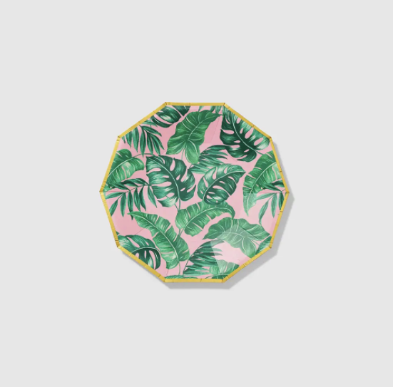 Palm Leaves Small Paper Party Plates (10 Count)