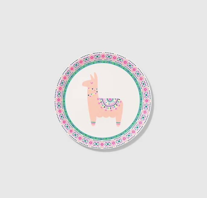 Happy Llama Small Paper Party Plates (10 Count)