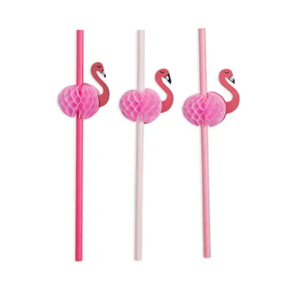 Assorted Flamingle Straws