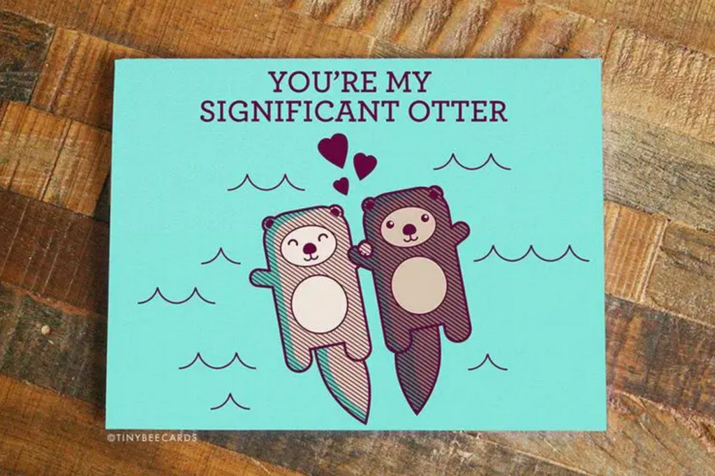Cute You're My Significant Otter Love Card