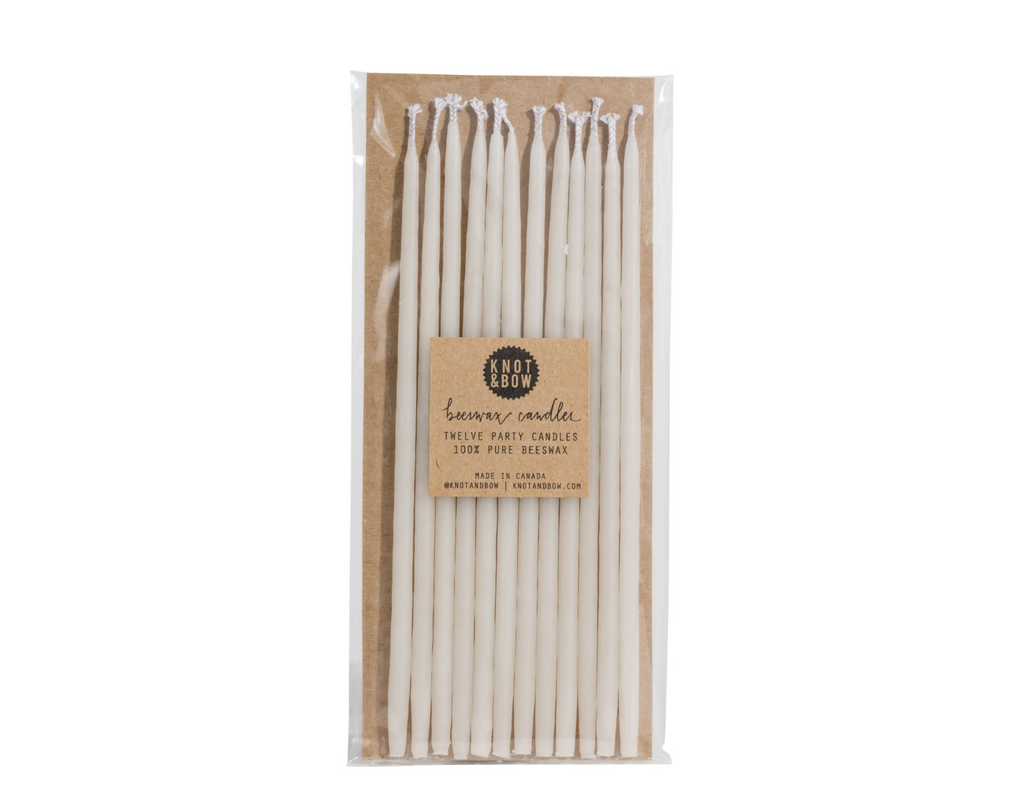 Ivory Tall Beeswax Birthday Candles