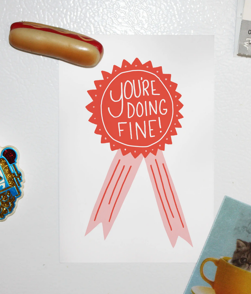 You're Doing Fine Mini-Print Postcard