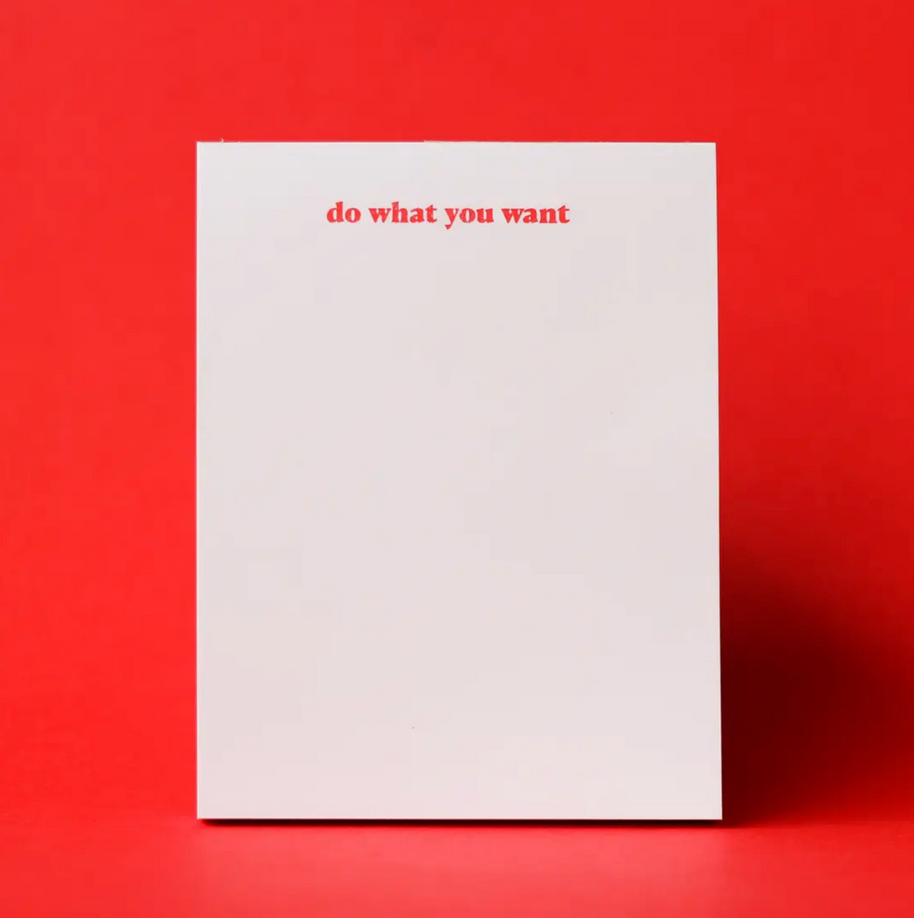 Do What You Want Risograph Notepad