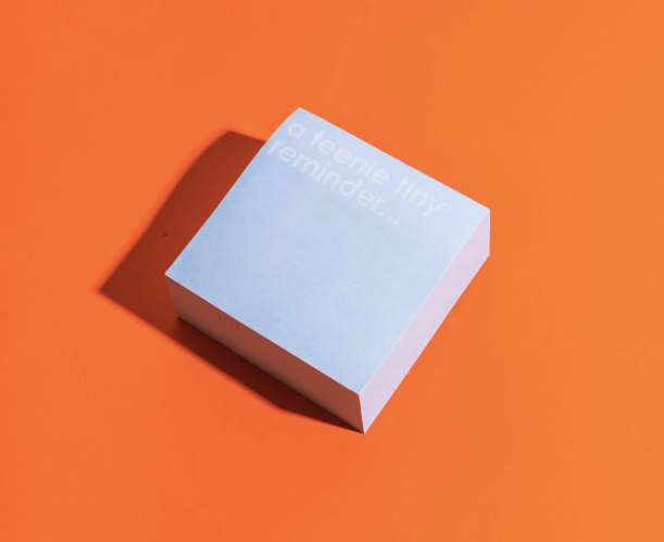 Tiny Reminder Sticky Note Cube