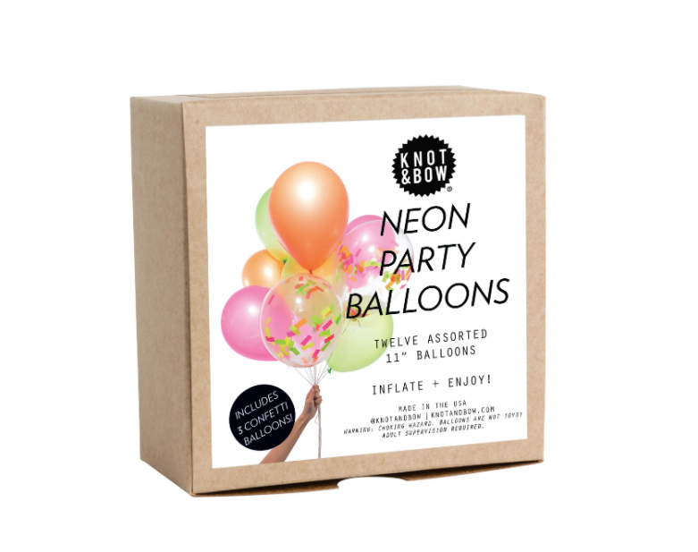 Neon Party Balloons
