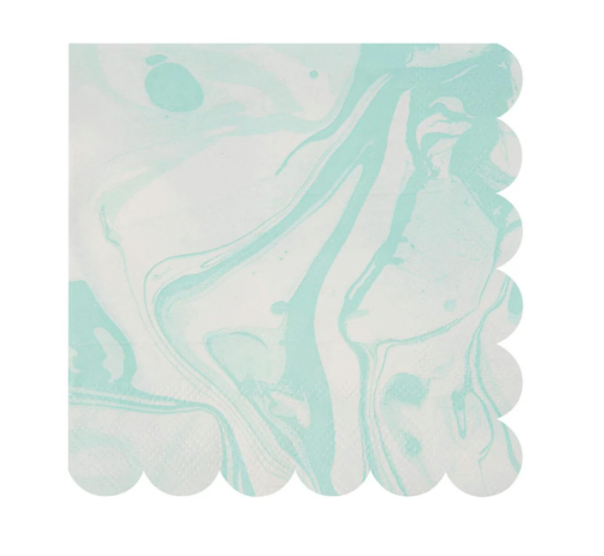 Mint Marble Napkins (small)