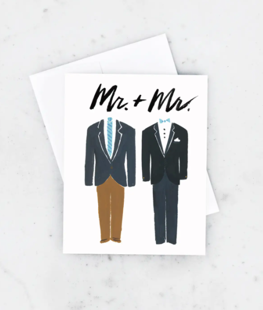Groom and Groom Card