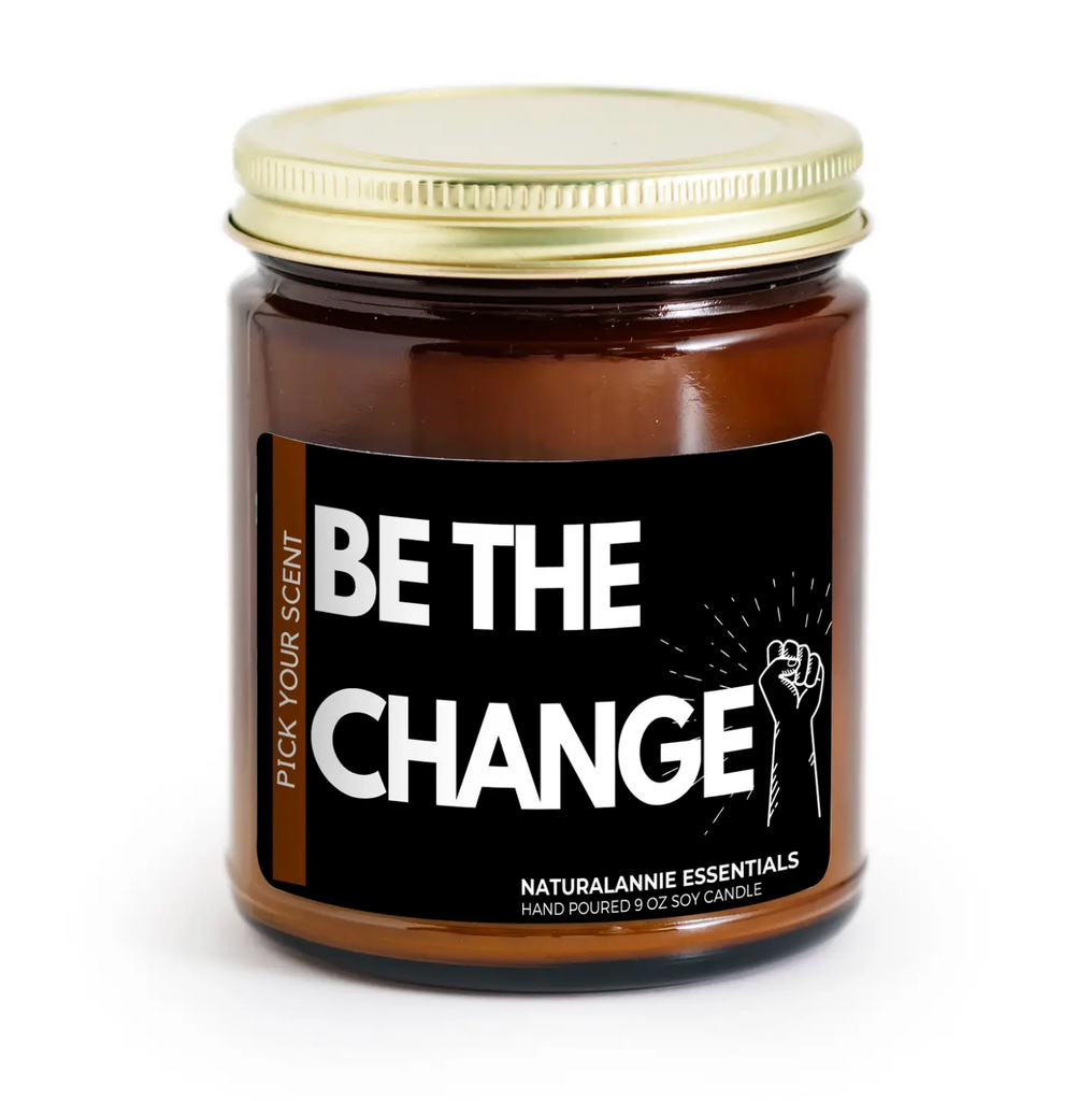 Be The Change! Candle (Violet & Musk) - 9oz