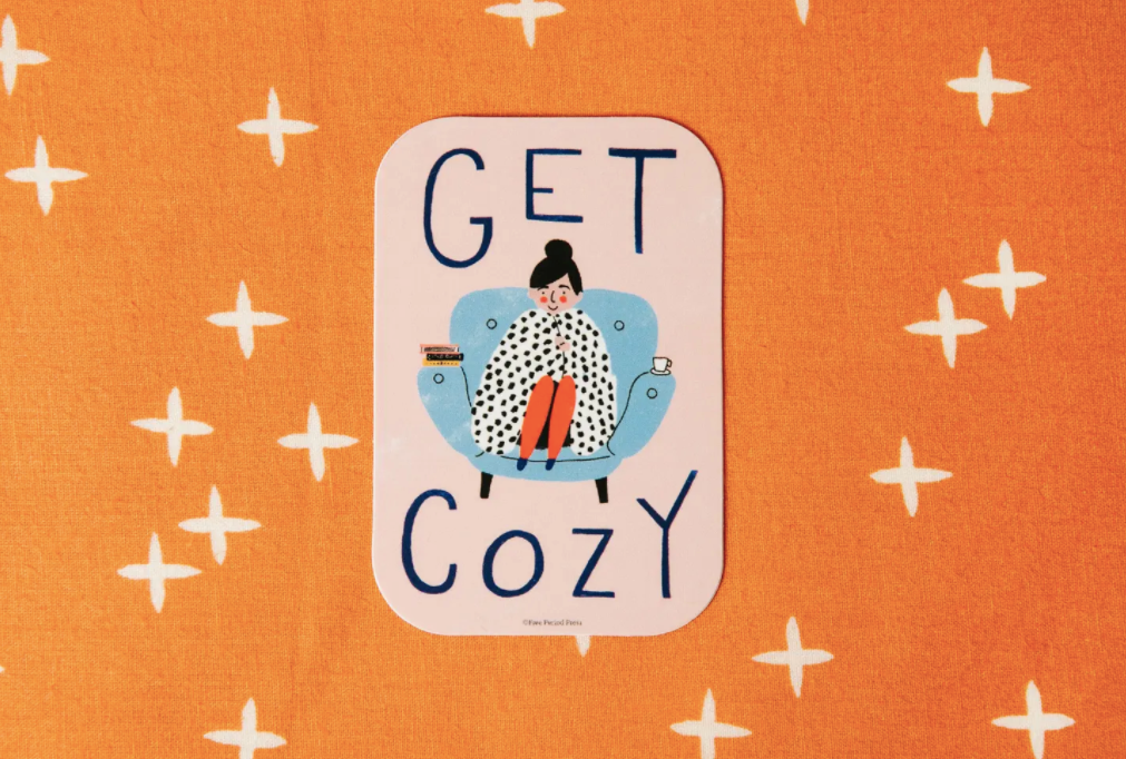 Get Cozy Vinyl Sticker