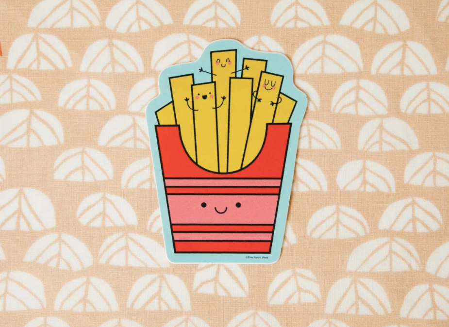 Fries Vinyl Sticker