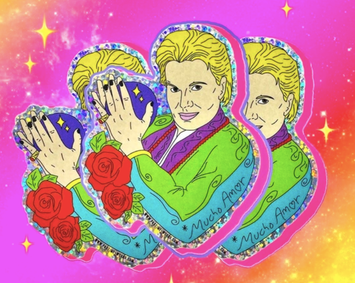 Walter Mercado Holo Sticker