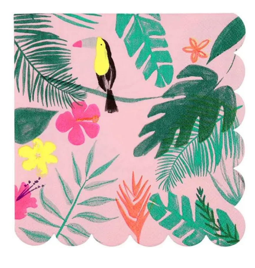Pink Tropical Napkins (small)