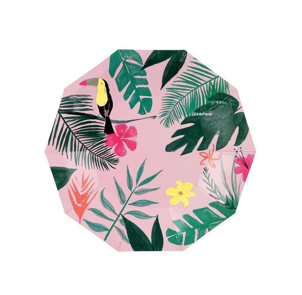 Pink Tropical plates (small)