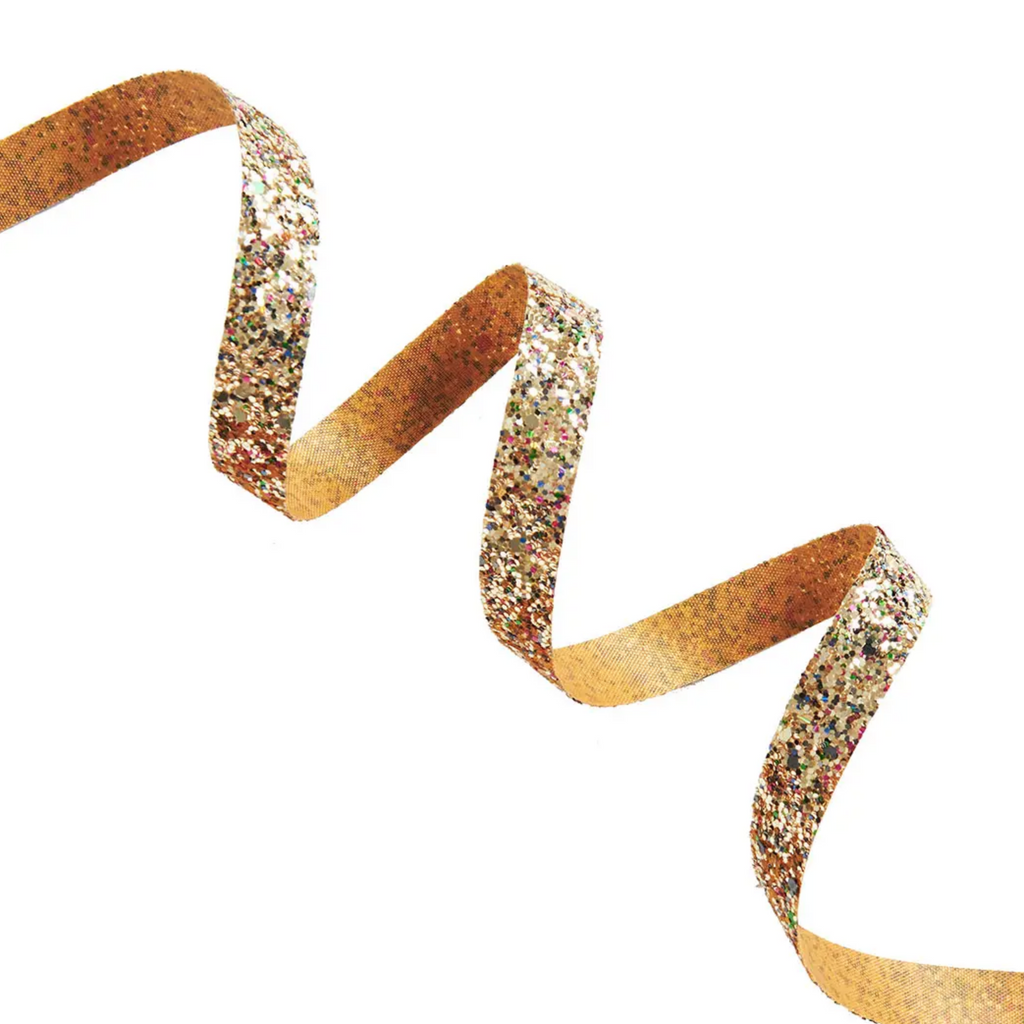 Gold Chunky Glitter Ribbon