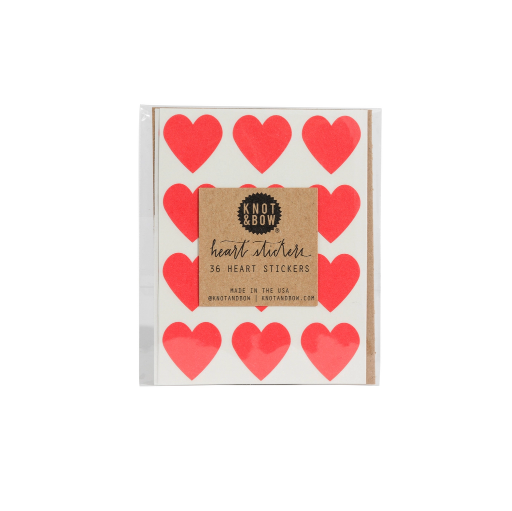 Red Heart Stickers (Pack of 36)