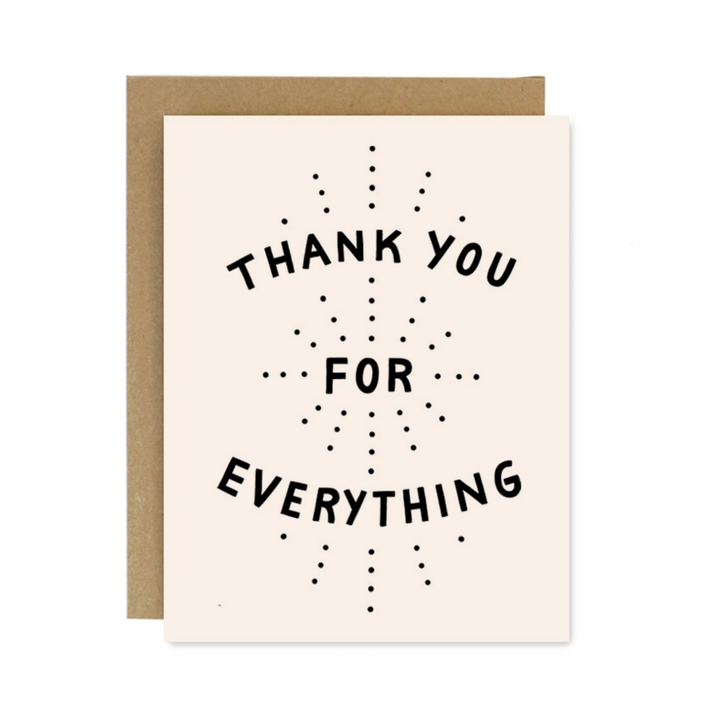 Thank You Everything Card
