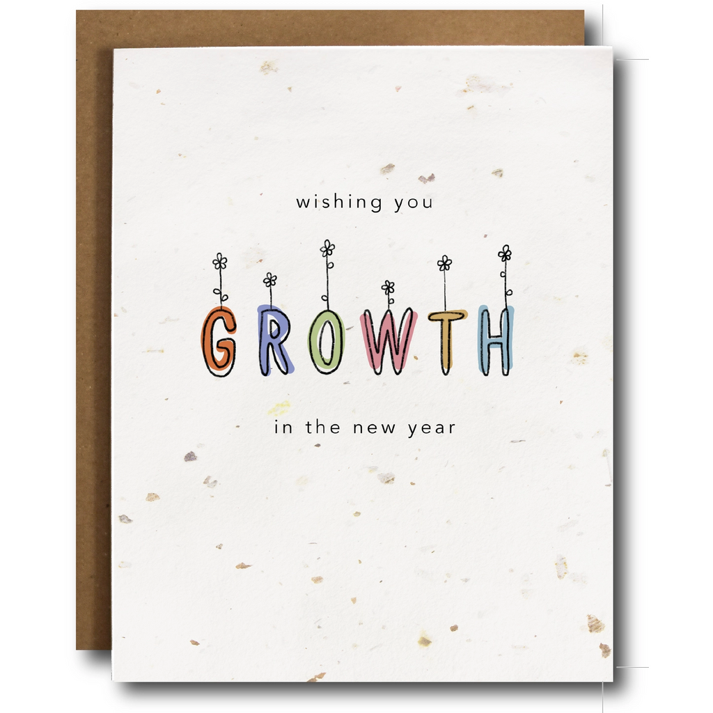 New Year Plantable Seeded Card